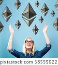ethereum, woman, happy 38555922