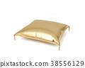 golden, pillow, 3d 38556129