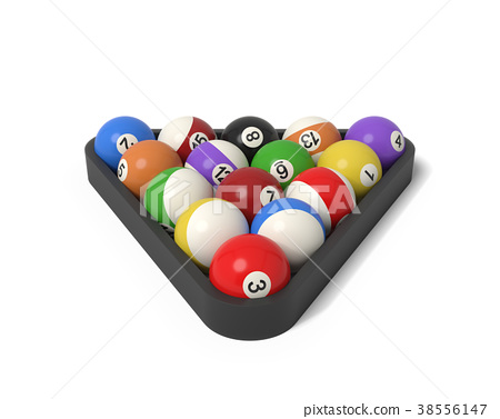 3d rendering of many billiard balls with colorful 38556147