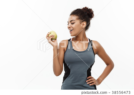 Healthy and Fitness concept - Beautiful American 38556473