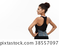Healthy and Fitness concept - Portrait of young 38557097