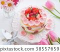 귀여운 딸기 케이크 38557659