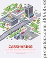 isometric carsharing car 38558538