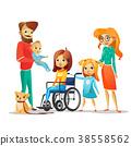child, handicapped, family 38558562