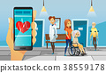 Hospital and old patients vector illustration of 38559178