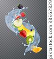 water, splash, fruit 38562829