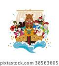 新年賀卡材料 十二生肖 野豬出沒的跡象 38563605