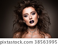Hair. Beauty Woman with Very Long Healthy and 38563995