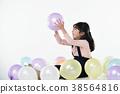 풍선과 어린이 38564816