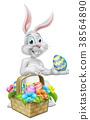Easter Bunny Rabbit on Egg Hunt 38564890
