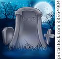Grave Graveyard Halloween Background 38564904