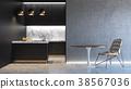 black kitchen interior 38567036