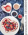 Heart shaped red velvet cake  38568004