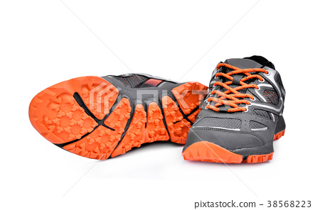 new unbranded sport shoes isolated on white  38568223