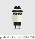 侦探 报纸 间谍 38569258
