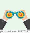 Hand and Binocular 38570387