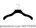 real clothes Hanger on a white background 38570409