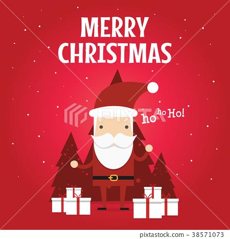 Christmas Greeting Card with Christmas Santa Claus 38571073
