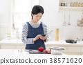 審查與智能手機的主婦一個菜單 38571620