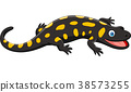 Cartoon happy salamander  38573255