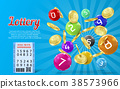 Vector lottery banner, bingo game background 38573966