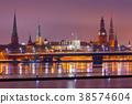 Riga. View on Daugava and the city embankment. 38574604