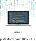programmer coding binary computer isometric 38575912