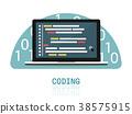 programmer coding binary computer isometric  38575915