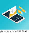 You've got mail,isometric Email smartphone  38575951