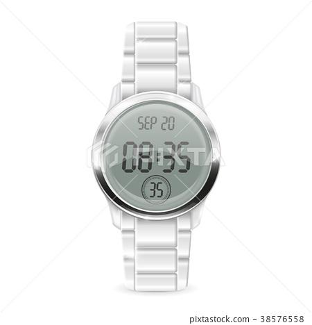 Men digital watch with metal bracelet 38576558