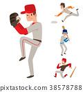 Baseball team player vector sport man in uniform 38578788