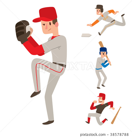 Baseball team player vector sport man in uniform 38578788