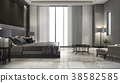 luxury suite bedroom in hotel near glass bathroom 38582585