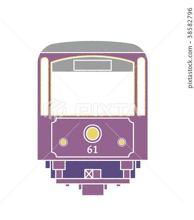 enoden, electric train, train 38582796
