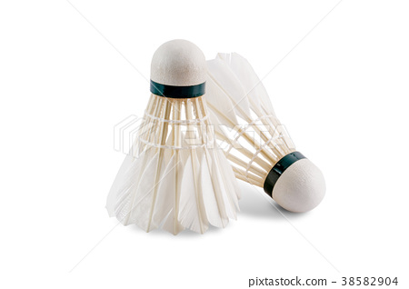 badminton shuttlecock cut on white 38582904