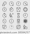 Time and Clock line icon 38584257