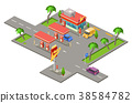 gas station isometric 38584782