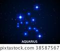 Set of Symbol Zodiac Aquarius 38587567