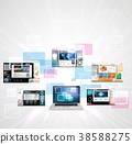 Web page design concept 38588275