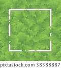 Clover leaves frame with white border background. 38588887