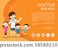 Doctor woman and kids background poster landscape 38589210