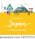 Flat design, Welcome to Japan Banner 38591553