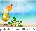 Have a nice vacation summer beach with drink and f 38592177