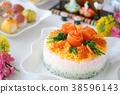 散壽司 壽司 食物 38596143