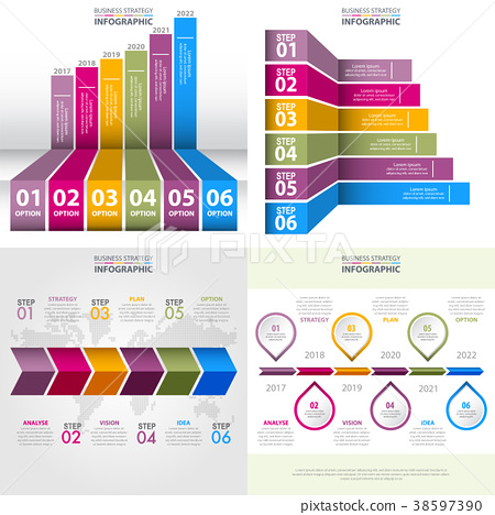 Set of Business Infographics design template 38597390