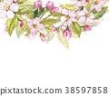 Apple frame botanical illustration. Card design 38597858