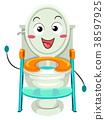 Toilet Training Seat Mascot Illustration 38597925