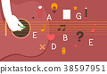 Hand Flat Guitar Lesson Illustration 38597951