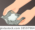 Hands Foil Drugs Illustration 38597964