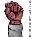 Hand Black Fist Illustration 38597985